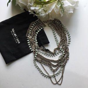 Bauble Bar // Multi Chain Aqua Statement Necklace